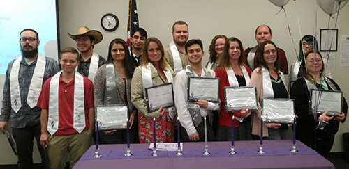 Students inducted into the NTHS